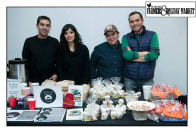 Fran Ilich, Gabriela Ceja and collaborators at the South Bronx Holiday Market, December 13, 2014.