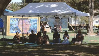 Life is Living wellness activities and portrait of Esteban Cuaya-Muñoz, Oakland, CA, October 11, 2014.