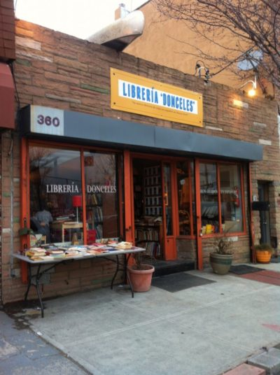 Opening day at Librería Donceles at 360 Van Brunt St. in Red Hook, Brooklyn, March 28, 2015. Photo by Elizabeth Grady.