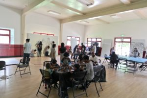 Participatory portraiture at the DeFremery Park Social Hall, Oakland, CA, 2014.
