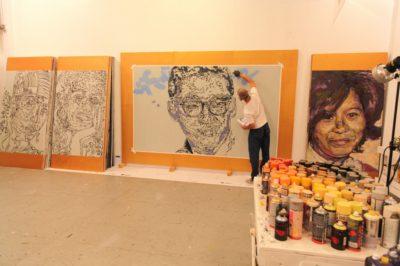 Bill Wong portrait at the Oakland Studio/Practice Center, August 2014.