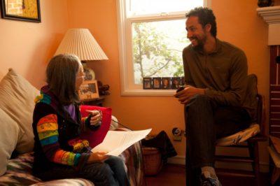 Brett Cook in conversation with healer Kathy Ahoy, Oakland, CA, 2014.