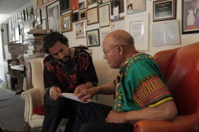 Brett Cook in conversation with healer Oscar Wright, Oakland, CA, 2014.
