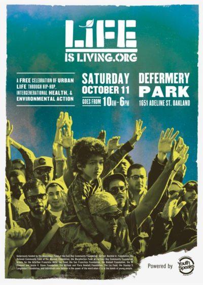 Poster for Life is Living festival, 2014.