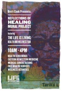 Poster for Reflections of Healing, 2014.