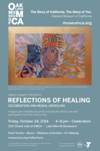 Poster for celebration at the Oakland Museum of California, October 24, 2014.