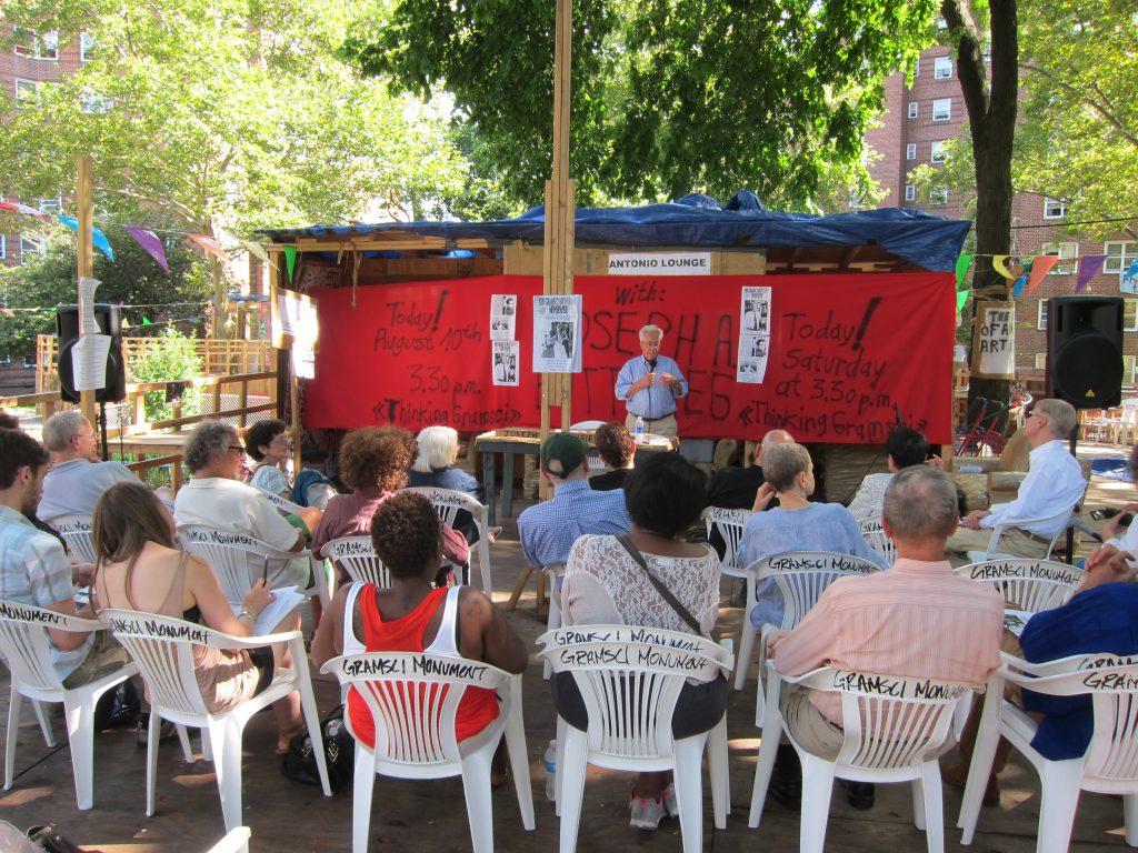 """Gramsci Seminar: Joseph A. Buttigieg,"" Forest Houses, Bronx, New York, 2013. Photo by Romain Lopez, courtesy Dia Art Foundation."