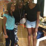 Co-teacher Jenice, intern Jermikah, and Lex