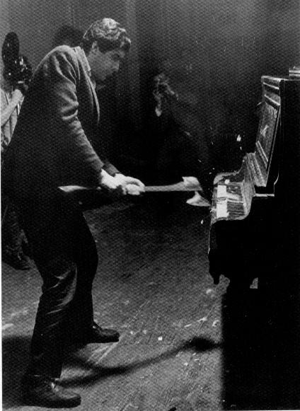Raphael Montañez Ortiz, De-Struction Ritual: Henny Penny-Paino-Sacrifice-Concert, 1967.  Courtesy the author.