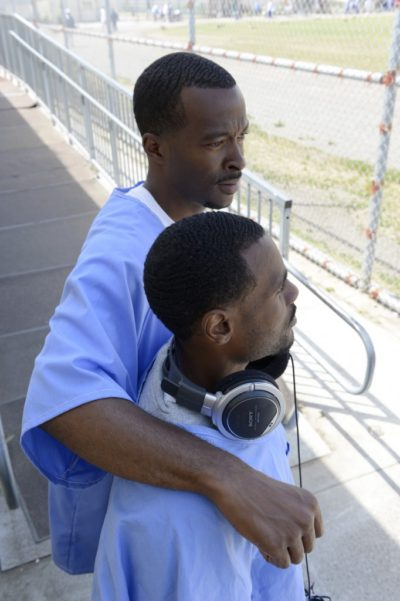 Shadeed Wallace Stepter and JB Burton in the San Quentin yard. Photo by Nigel Poor.