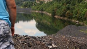 Coal slurry impoundment, Boone County, WV 2013. Video Still: Laura Chipley