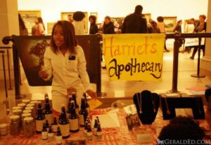 Princess Keisha at Harriet's Apothecary table, Brooklyn Museum Edition, March 7, 2015. Photo: Gerald ED