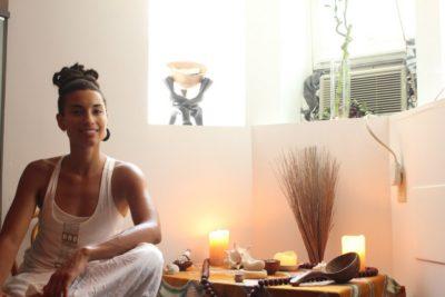 Naima Penniman, Harriet's Apothecary Thai Yoga Massage healer, Summer 2014. Photo: Alvin McBean