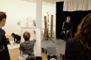 Andrea Bowers and Suzanne Lacy: Drawing Lessons (2014) was a nine-day installation at The Drawing Center in New York City, during which artist Andrea Bowers attempted to teach Suzanne Lacy to draw in lessons that were open to the public.