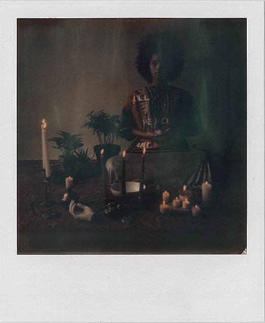 The Sensitive Boy Slumber Party Manifesto: Dashiki Polaroid, instant film, screen print on fabric, 3.5 x 4.25 in., 2015. Courtesy the artist.