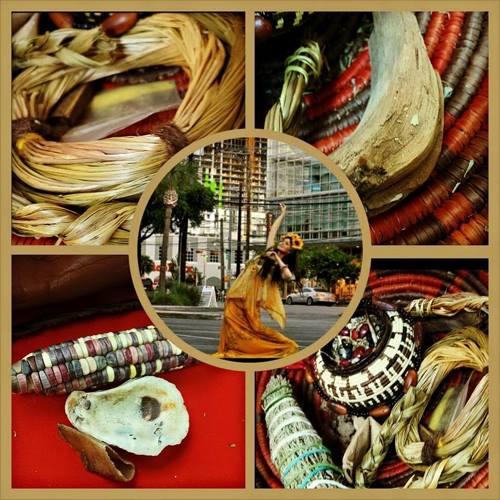 Rulan Tangen in Re-indigenizing Austin, for LUPE Artes in Austin, TX. Photo: Yoeme Homari