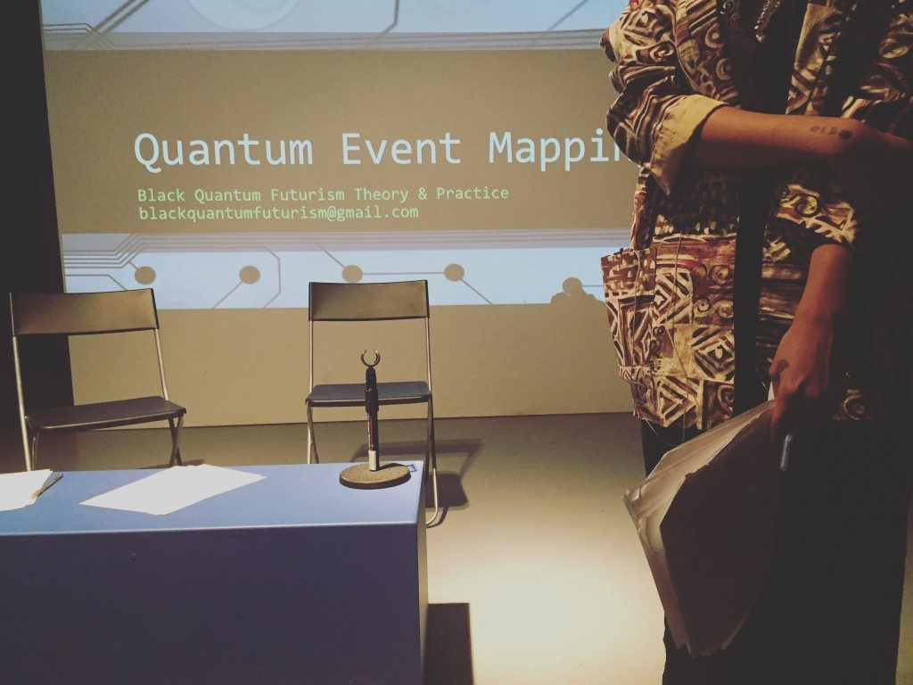 Quantum Event Mapping workshop with Rasheedah Phillips at Slought, Philadelphia, January 2016. Courtesy the artists.