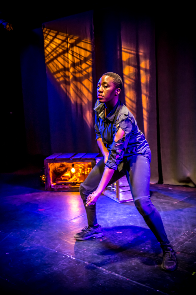 Rebecca Mwase in Looking At A Broad, The Theatre at St. Claude, New Orleans, November 2015. Photo: Melisa Cardona