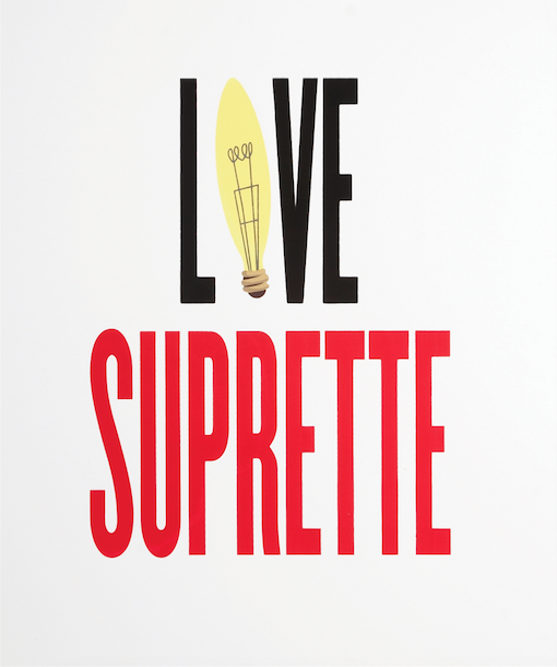 Love Suprette, 2010, screen print on paper, 20 x 24 in. Courtesy the artist.