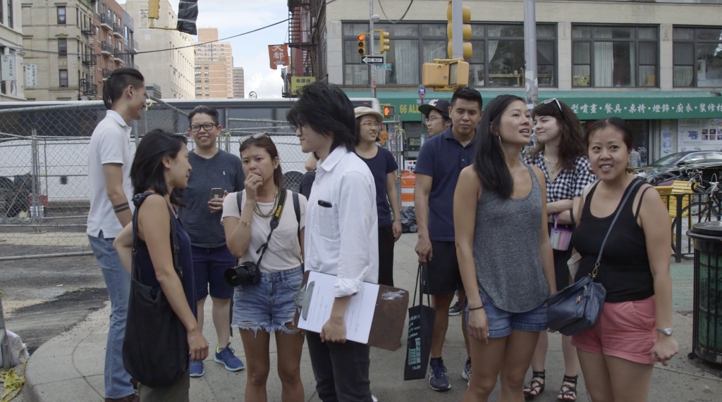 Organizing in Chinatown, image courtesy RAVA films.