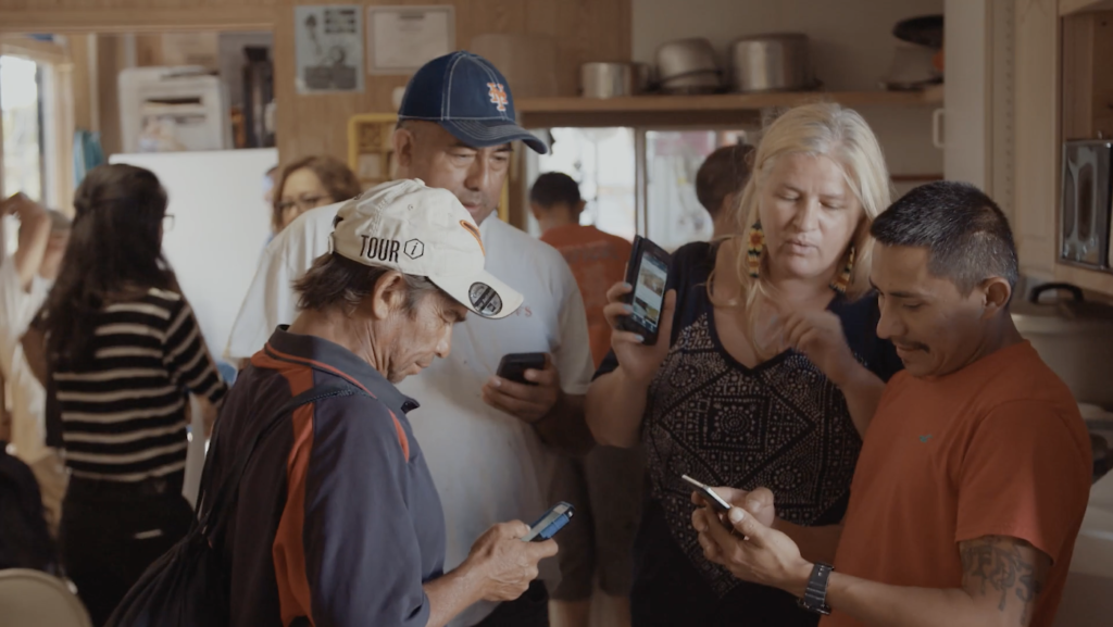 2015 ABOG Fellow Sol Aramendi and immigrant day laborers, artists, organizers, developers, and lawyers created a collaborative smartphone app to fight wage theft. Image: RAVA Films