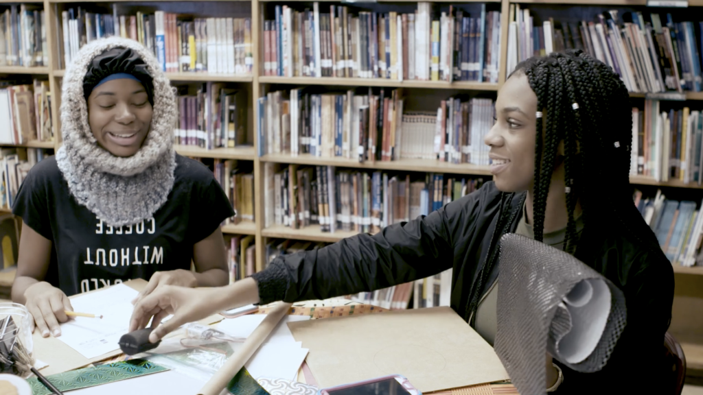 Student artists at The Black School, Image: RAVA Films