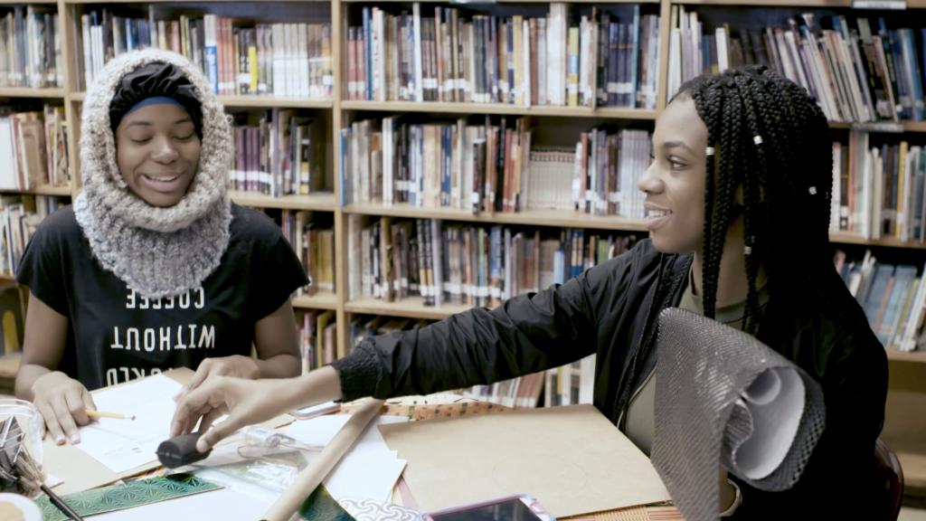 Student artists at The Black School, Image: RAVA Films