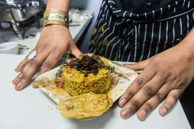 Chef Dobson's Mulatto Rice at the Zora Neale Hurston dinner. Photo by Gabrielle Clark.