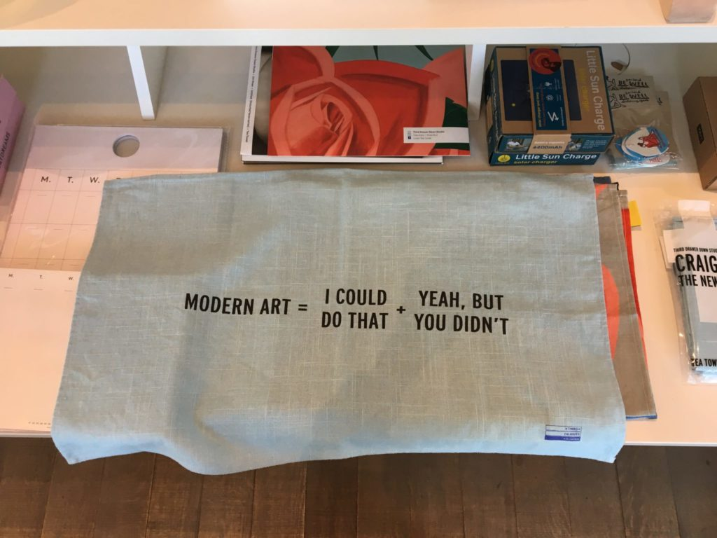 Souvenir handkerchief available in the gift shop of the Pérez Art Museum in Miami. Photo by Deborah Fisher.