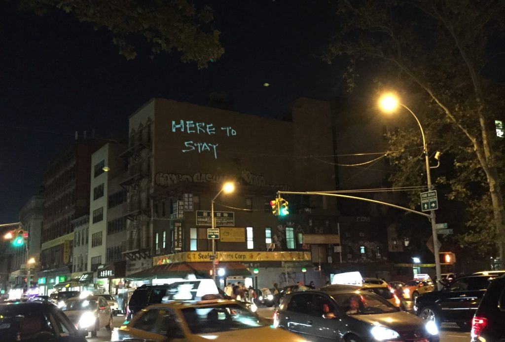 Here to Stay projection night. Photo by Joelle Te Paske.