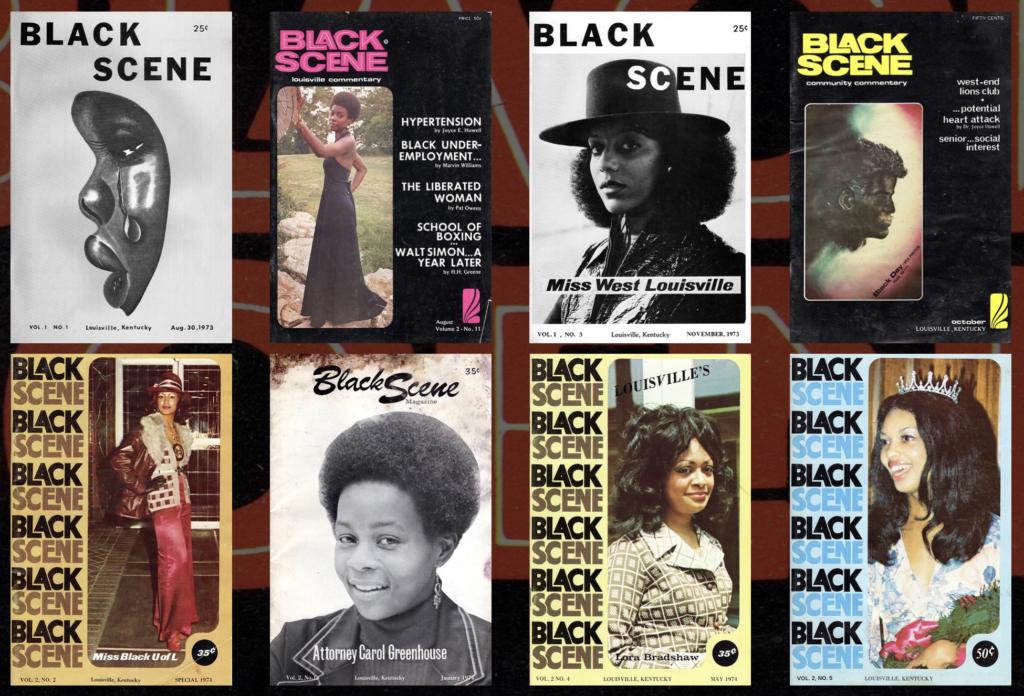 Original 1970s Black Scene covers, via blackscene.org
