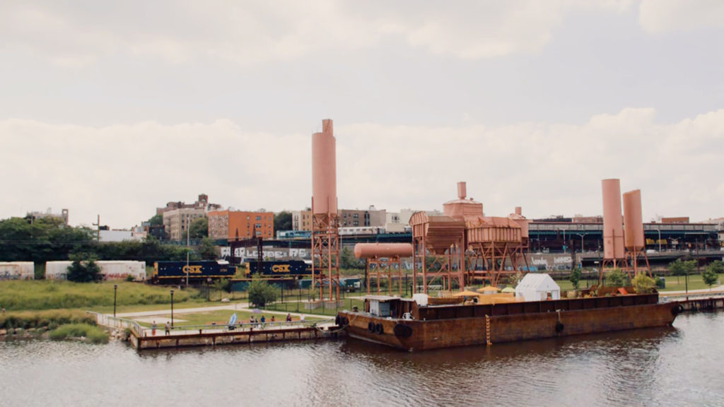 Swale docked at Concrete Plant Park in the Bronx, New York. Photo courtesy of RAVA Films.