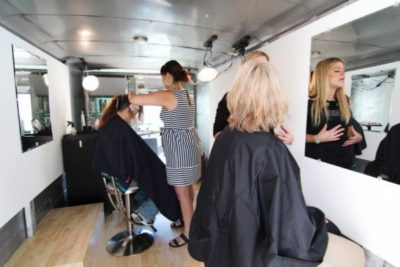 Interior of the mobile salon, Beauty in Transition, Denver, CO, 2013.