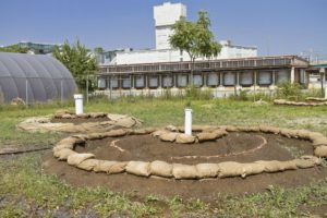 The Fairy Rings at the ExxonMobil, Greenpoint Remediation Project Site. Photo by Mitch Waxman.