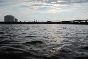 View of Newtown Creek from the water. Photo by Jan Mun.