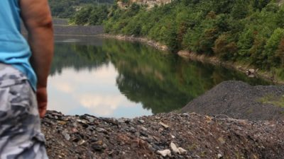 Coal slurry impoundment, Boone County, WV 2013. Video Still: Laura Chipley