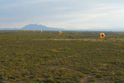 Repellent Fence, 2015. Photo by Michael Lundgren, courtesy of Postcommodity.