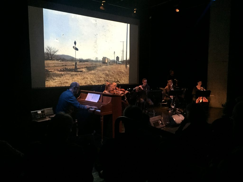 A live performance of Shawnee, Ohio at the Contemporary Arts Center. Cincinnati, Ohio, 2016. Photo: Asa Featherstone.