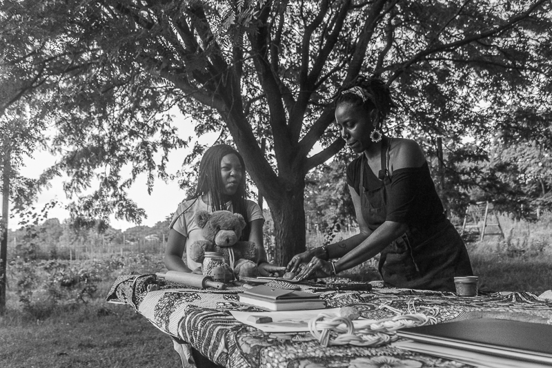 Creating a kitchen altar, Our Mothers' Kitchens Camp, 2017. Photo: Gabrielle Clark.