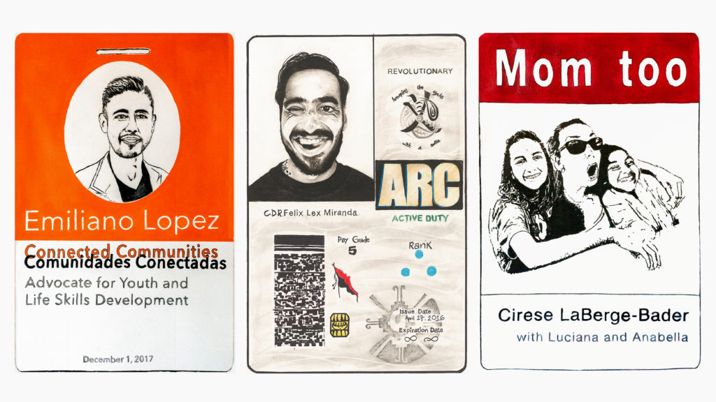 Completed Future IDs by Emiliano Lopez, Felix Miranda, and Cirese LaBerge-Bader.