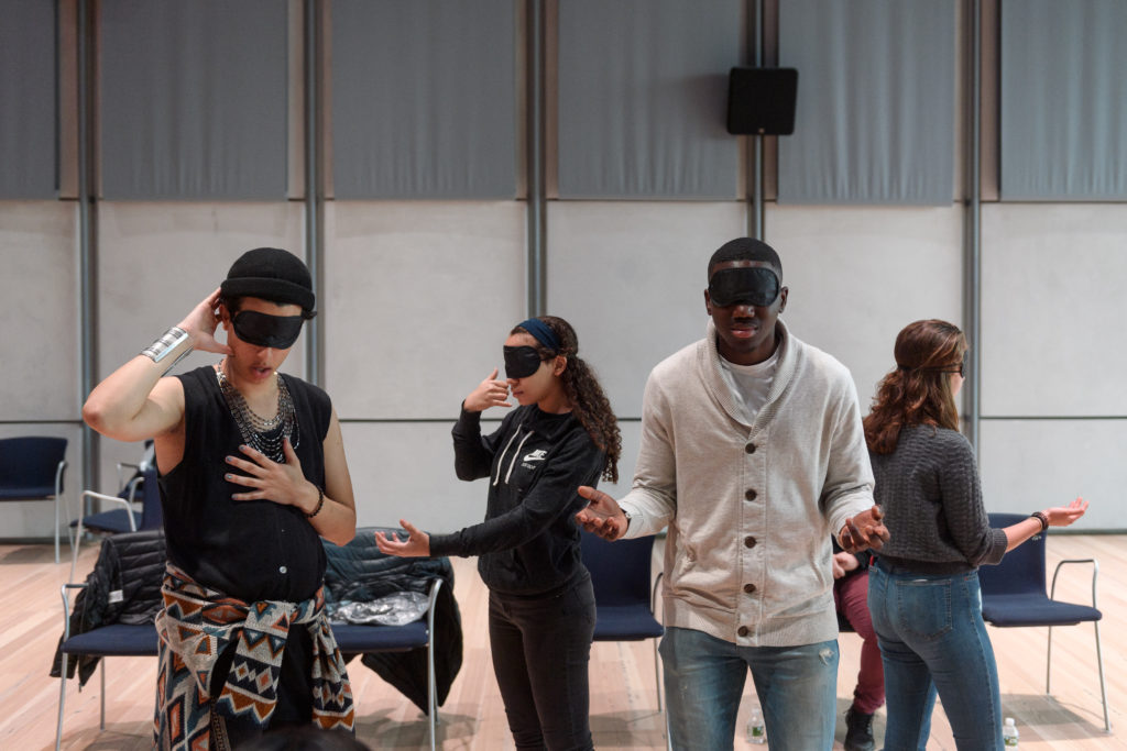 Testimony #2: Experiences of Sterotyping / Silencing, workshop and performance, 1 hour at Whitney Museum for Whitney Teens: Youth Summit, 2 November 2018. Photo by Filip Wolak.