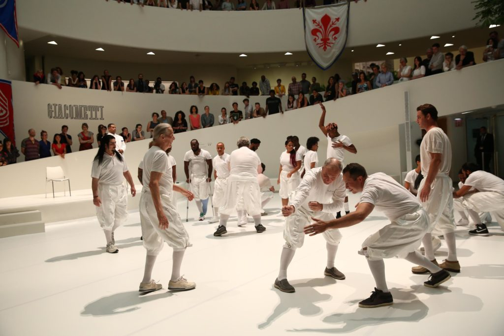 Primitive Games, performance, 1 hour at Guggenheim Museum, New York NY, 21 June 2018. Photo by Paula Court.