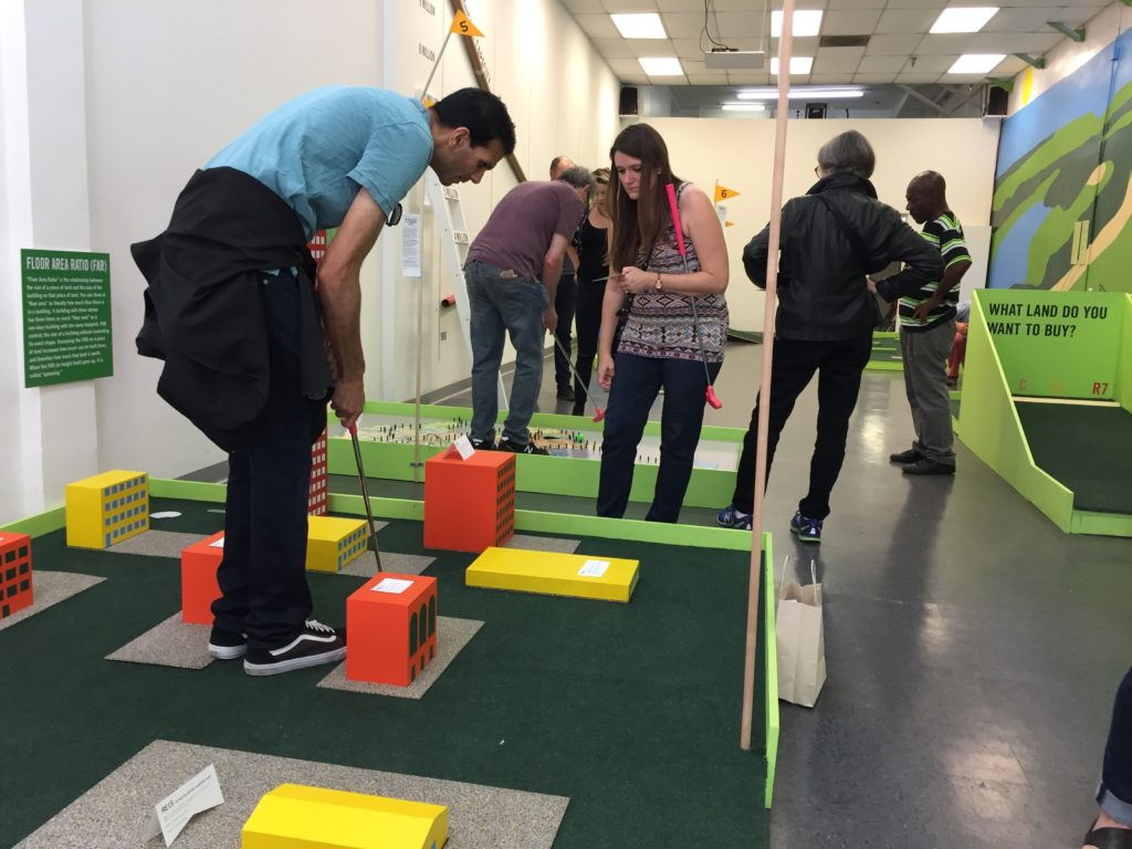"""The Back 9"" installation by Rosten Woo at the Skid Row History Museum and Archive, 2017. © Los Angeles Poverty Department."