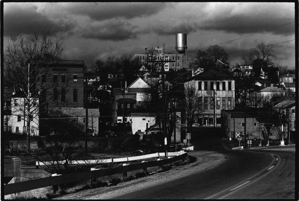 Archival photo of Main Street in Shawnee, OH. Photo courtesy of Little Cities Archive.