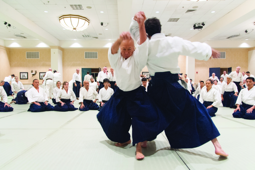 Demonstration by Hayato Osawa Sensei at United States Aikido Federation Summer Camp. Photo by Javier Dominguez.