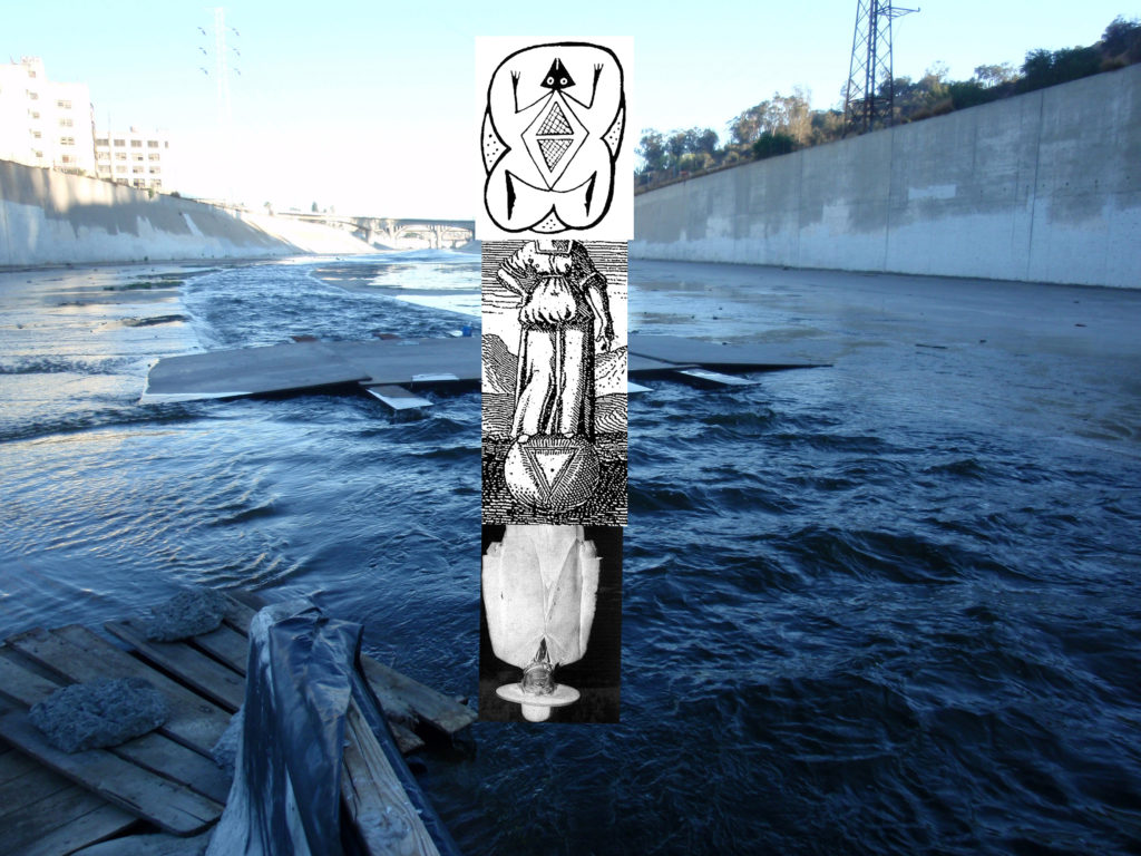 Eduardo Molinari, Confluencia 2: Los Angeles River, DOC AC/2016, collage.