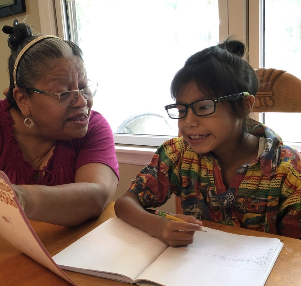 To grow new generations of fluent Maskoke language speakers, no English is spoken in Ekvn-Yefolecv's language immersion program. Photo courtesy of Marcus Briggs-Cloud.