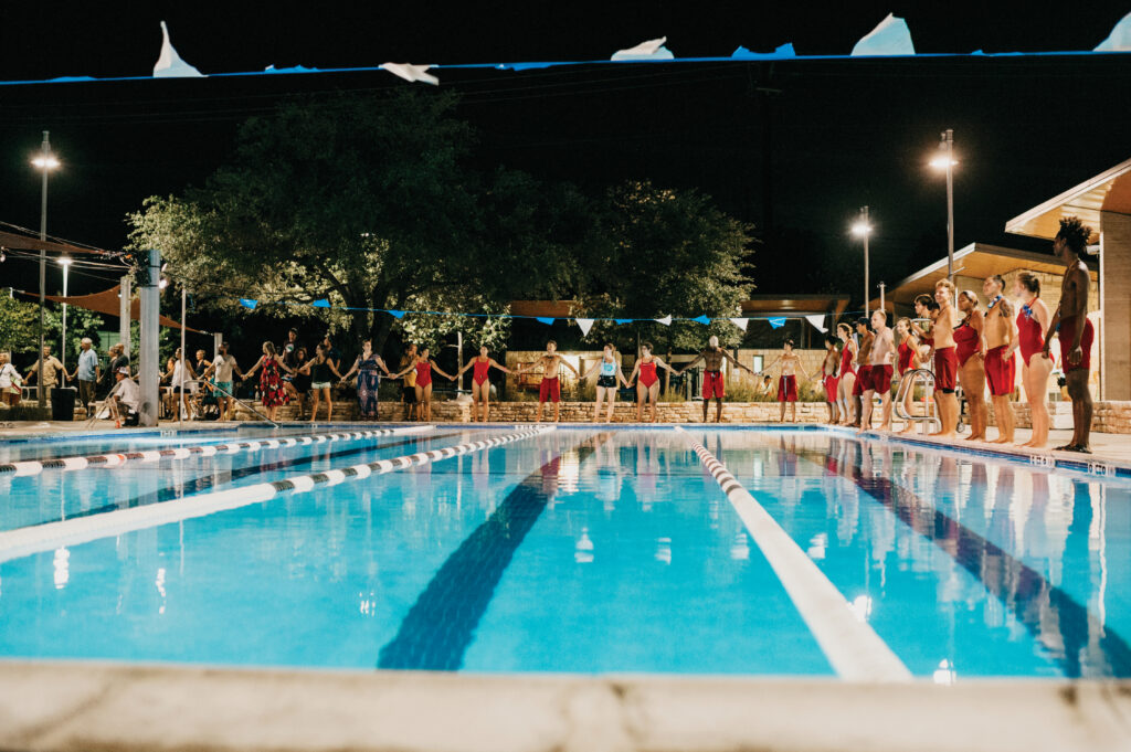"""""""My Park, My Pool, My City"""" is a three-year artistic residency in partnership with the Austin's Parks and Recreation Aquatics Division which began in 2017, activating and amplifying civic engagement around the future of Austin's city pools."""
