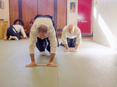 Students of all ranks participate in the ritual of cleaning the dojo